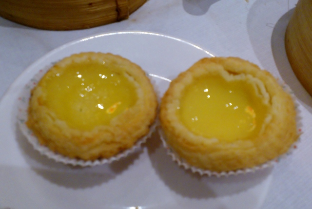 Egg custard tart (small $4.40)