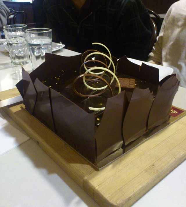 Medium Triple Mousse Cake ($45)
